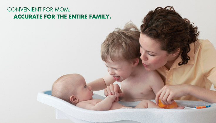 The Vicks Behind Ear Thermometer is convenient for mom and accurate for the entire family.