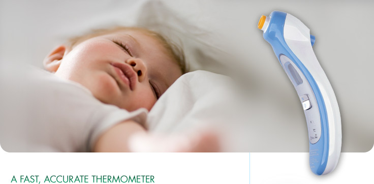 Vicks New Behind Ear Thermometer provides an accurate reading with an gentle touch